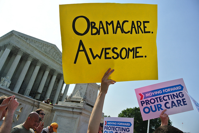 Obamacare on the steps of the Supreme Court. Will O'Neill. June 28, 2012.